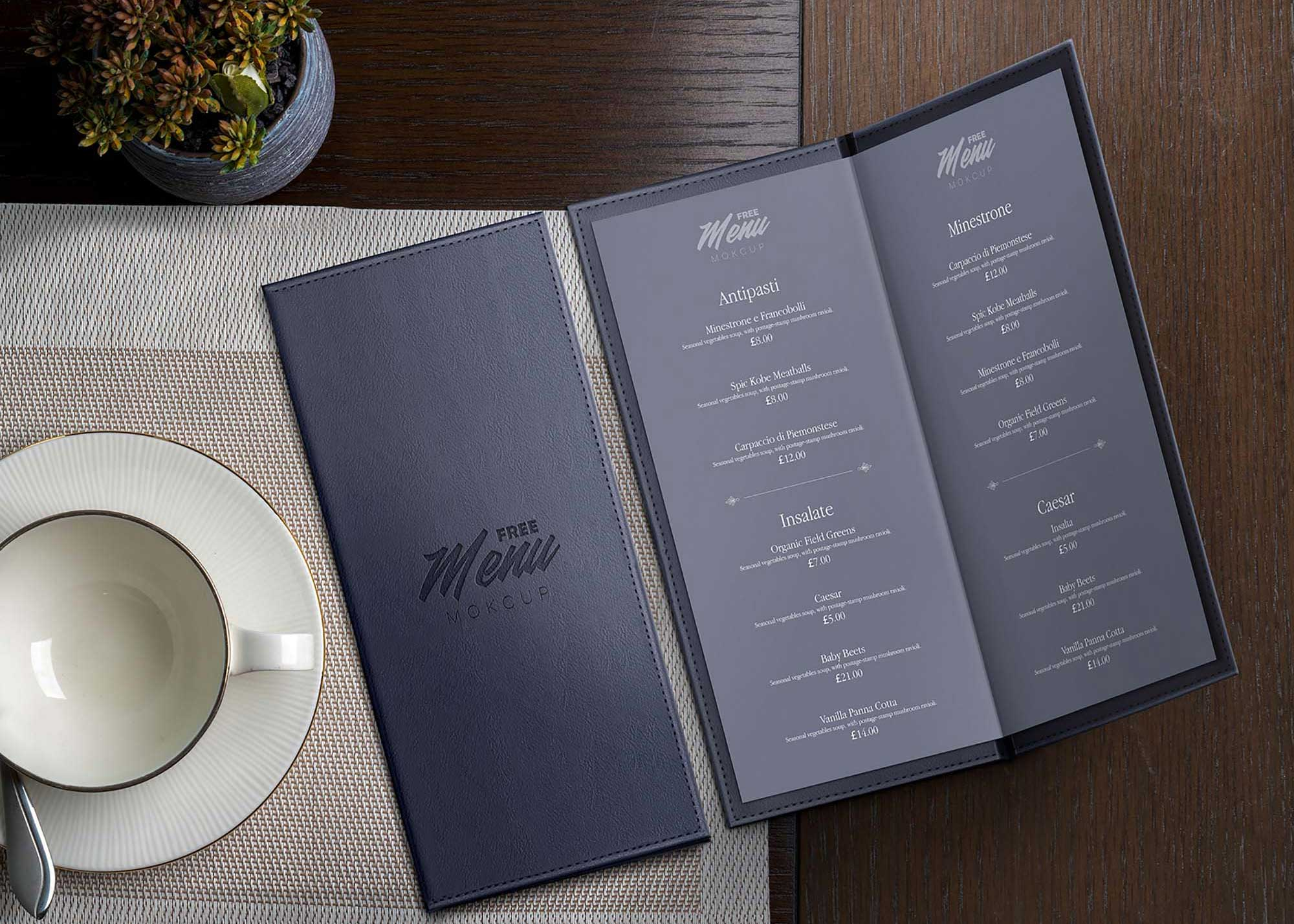 Leather-Restaurant-Menu-Mockup